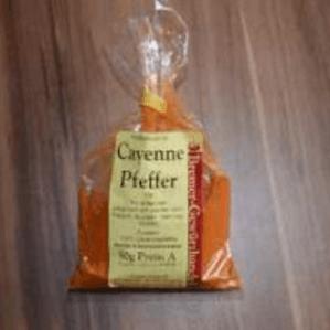 Tüte mit Cayenne Pfeffer