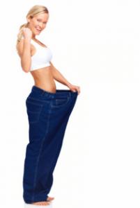 Frau ist viel schlanker geworden