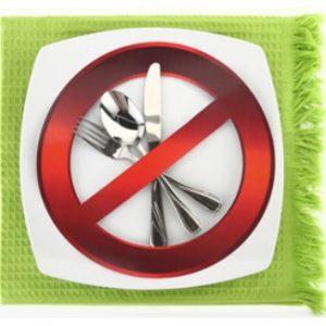 Essen verboten Schild