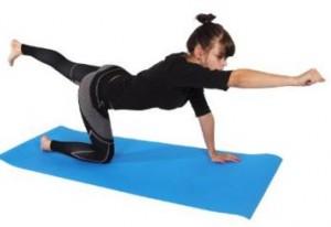 Gute Fitnessmatte für Gymnastikübungen