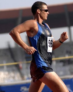 Marathon Läufer beim Marathon Training