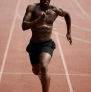 Sprinter beim Fettabbau